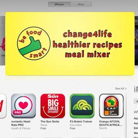 Be Food Smart gets featured in iTunes